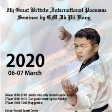 GM Ik Pil Kang 6th GBR International Poomsae Seminar in Harrogate 6-7 Mar 2020